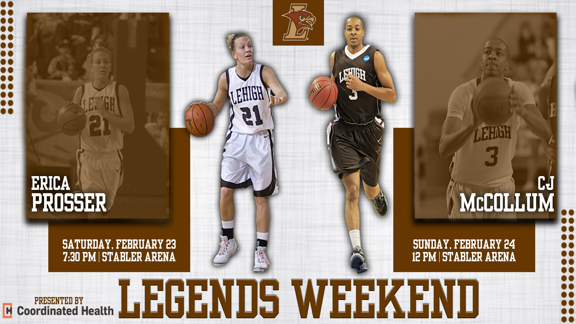 Lehigh Athletics set to honor basketball greats McCollum and Prosser on  Legends Weekend 661e242d4